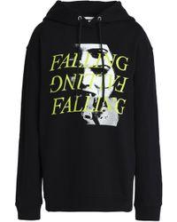 McQ - Printed Cotton Hooded Sweatshirt - Lyst