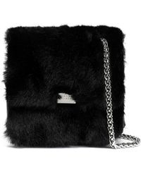 Claudie Pierlot - Textured-leather And Faux Fur Shoulder Bag - Lyst