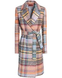 Missoni - Woman Belted Wool-blend Bouclé-tweed Coat Multicolor - Lyst