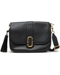 Marc Jacobs - Woman Tasseled Textured-leather Shoulder Bag Black - Lyst