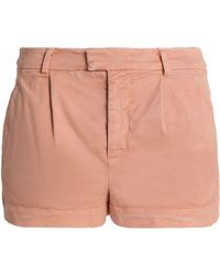RED Valentino - Pleated Stretch-cotton Twill Shorts - Lyst