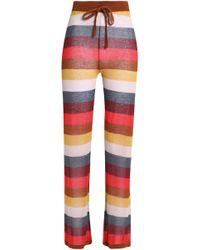 Love Stories - Striped Cotton-blend Pyjama Trousers - Lyst
