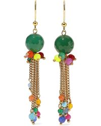 Rosantica - Rossini Gold-tone Beaded Earrings - Lyst