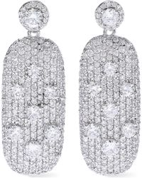 CZ by Kenneth Jay Lane - Silver-tone Crystal Earrings - Lyst