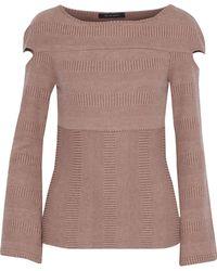 W118 by Walter Baker - Kristen Cutout Knitted Top - Lyst