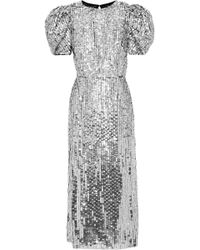 Carolina Herrera - Open-back Sequined Tulle Gown - Lyst