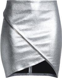 RTA - Zip-detailed Metallic Leather Mini Skirt - Lyst