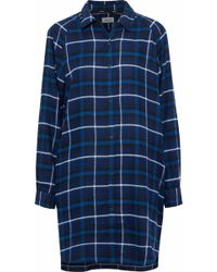DKNY - Checked Flannel Nightdress - Lyst
