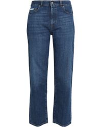 ALEXACHUNG - Faded Mid-rise Straight-leg Jeans - Lyst