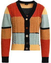 JOSEPH - Color-block Wool Cardigan - Lyst