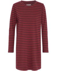 Current/Elliott - Striped Cotton-jersey Mini Dress - Lyst