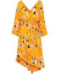 Diane von Furstenberg - Eloise Asymmetric Floral-print Silk Crepe De Chine Wrap Dress - Lyst