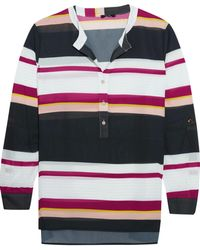Raoul | Holiday Striped Georgette Blouse | Lyst