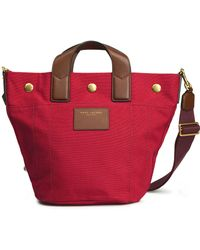 Marc Jacobs - Leather-trimmed Canvas Shoulder Bag - Lyst