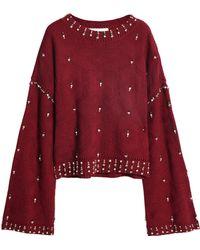 Jonathan Simkhai - Embellished Wool Jacquard Sweater - Lyst