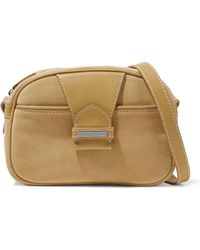 Zimmermann - Leather-paneled Suede Shoulder Bag - Lyst
