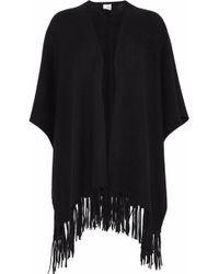 Iris & Ink - Fringe-trimmed Cashmere Poncho - Lyst