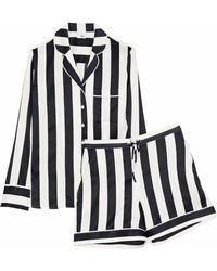 Iris & Ink - Devon Striped Stretch-silk Pajama Set - Lyst