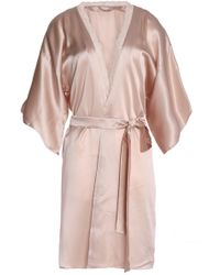 Stella McCartney - Lace-trimmed Silk-satin Robe - Lyst