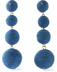 Kenneth Jay Lane - Earrings Cobalt Blue - Lyst