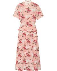Mother Of Pearl - Twilla Printed Silk-georgette Midi Dress - Lyst