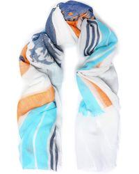 Rag & Bone - Printed Cotton-gauze Scarf - Lyst