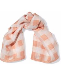 Rag & Bone - Gingham Cotton And Silk-blend Scarf - Lyst