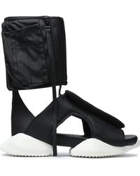 Rick Owens - Cutout Shell And Neoprene High-top Sneakers - Lyst