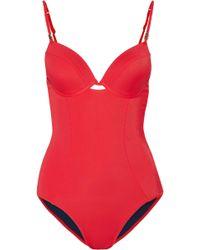 Heidi Klum - Sun Muse Cutout Underwired Swimsuit - Lyst