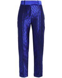Haider Ackermann - Ribbed Silk-blend Satin Jacquard Straight-leg Trousers - Lyst