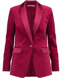 MICHAEL Michael Kors - Satin-paneled Cotton-blend Blazer - Lyst