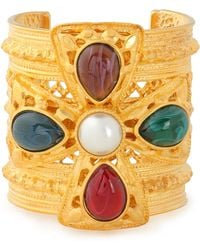 Ben-Amun - Woman Gold-plated, Faux Pearl And Stone Cuff Gold Size -- - Lyst