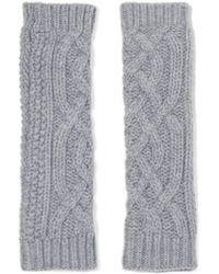Agnona - Cable-knit Cashmere Gloves - Lyst