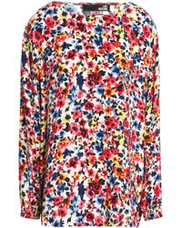 Love Moschino - Floral-print Crepe Blouse - Lyst