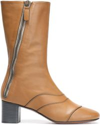 Chloé - Lexie Panelled Leather Boots - Lyst