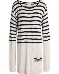 Day Birger et Mikkelsen - Crystal-embellished Striped Knitted Mini Dress - Lyst