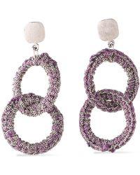 Carolina Bucci - 18-karat White Gold And Cord Earrings - Lyst