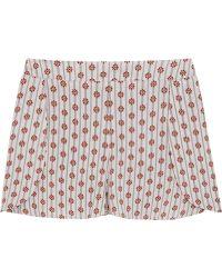 Tori Praver Swimwear - Boise Floral-print Crepe Shorts - Lyst