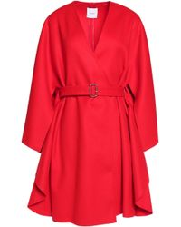 Agnona - Belted Wool Cape - Lyst