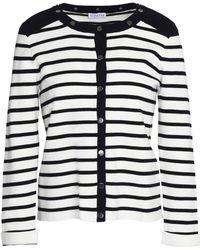 Claudie Pierlot - Martin Striped Cotton Cardigan - Lyst