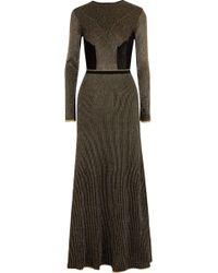 Vionnet - Metallic Crochet-knit Wool Maxi Dress - Lyst