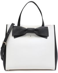 Kate Spade - Clement Street Brigette Bow-embellished Leather Shoulder Bag - Lyst