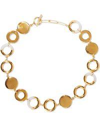 Noir Jewelry - Steady Glow 14-karat Gold-plated Resin Necklace - Lyst