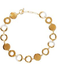 Noir Jewelry - Woman Steady Glow 14-karat Gold-plated Resin Necklace Gold - Lyst