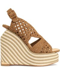 Paloma Barceló - Woven Suede Espadrille Wedge Sandals - Lyst