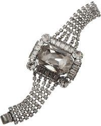 Tom Binns - - Rhodium-plated Crystal Bracelet - Lyst