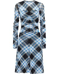 Diane von Furstenberg - Ruched Checked Dress - Lyst