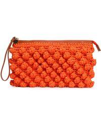M Missoni - Crocheted Cotton-blend Clutch - Lyst