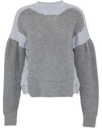 McQ - Knitted And Mélange Cotton-jersey Sweatshirt - Lyst