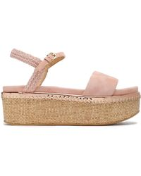 Stuart Weitzman - Your Way Braid-trimmed Suede Platform Sandals - Lyst